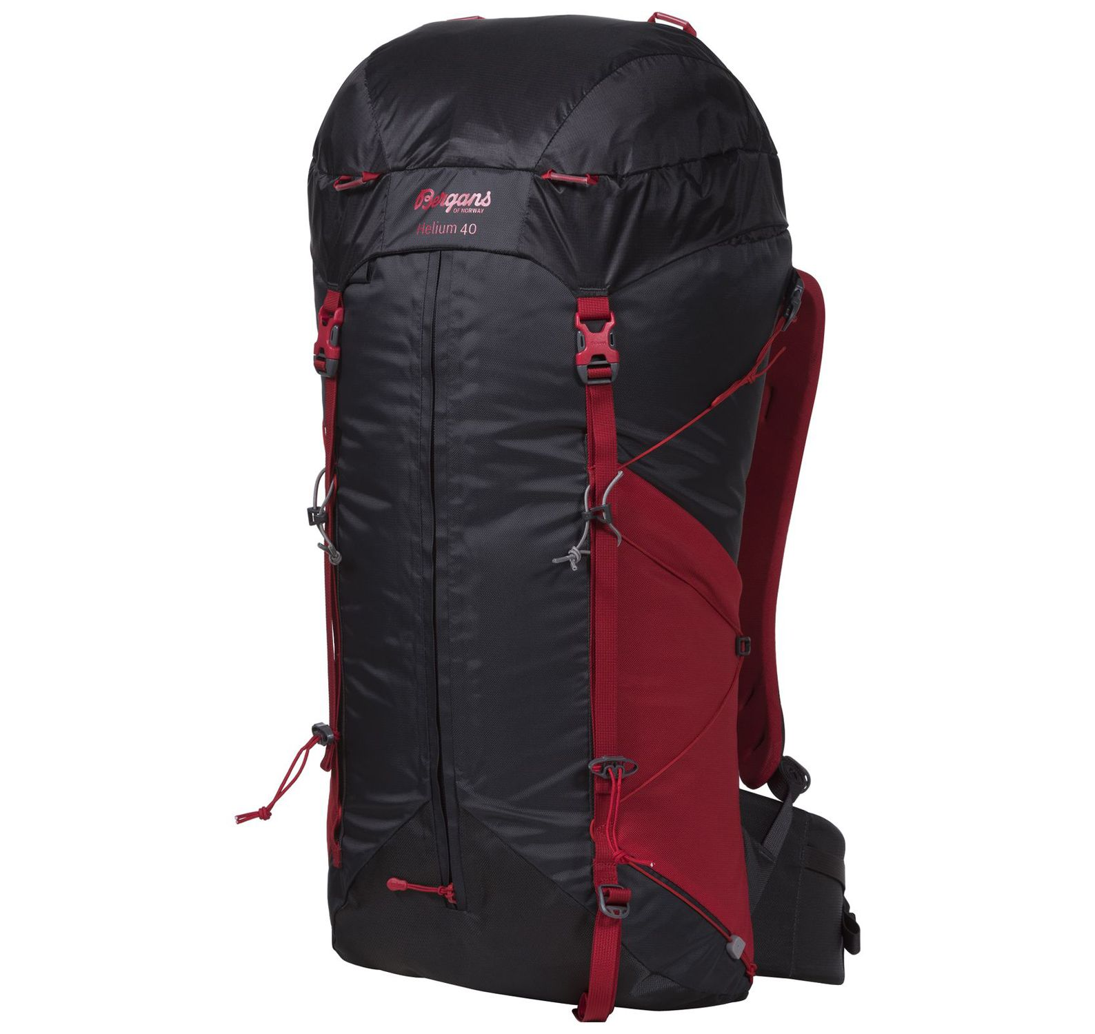 helium w 40, solidcharcoal/red, 40,  bergans