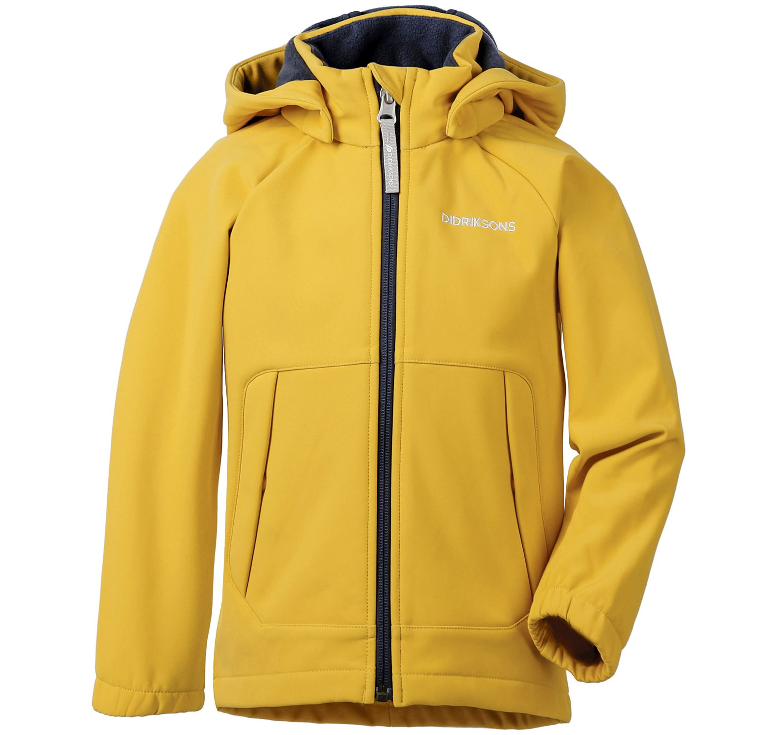 Poggin Kid's Softshell Jacket, Oat Yellow, 100,  Didriksons Vinter Rea
