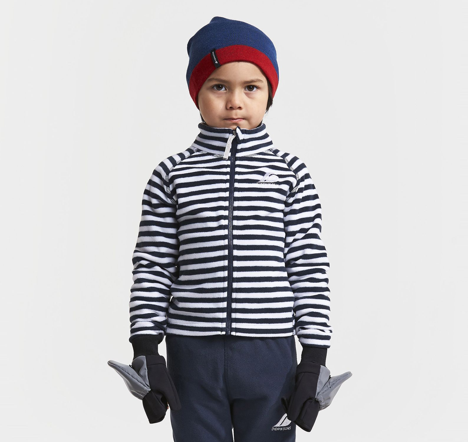 Monte Printed Kid's Jacket 3, Navy Simple Stripe, 100,  Didriksons Vinter Rea