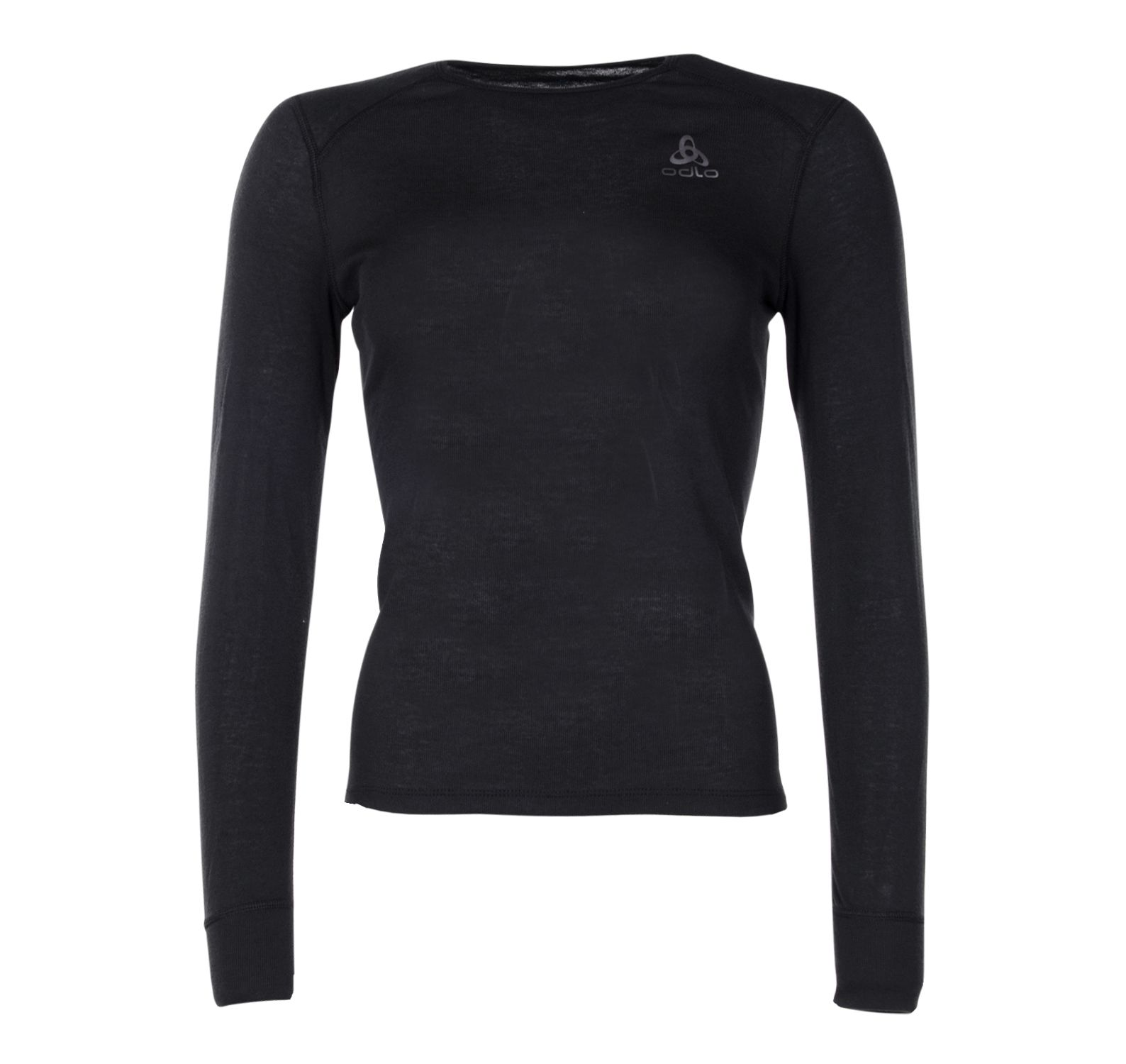W Bl Top Cn L/S Active Warm Ec, Black, L,  Underställströjor