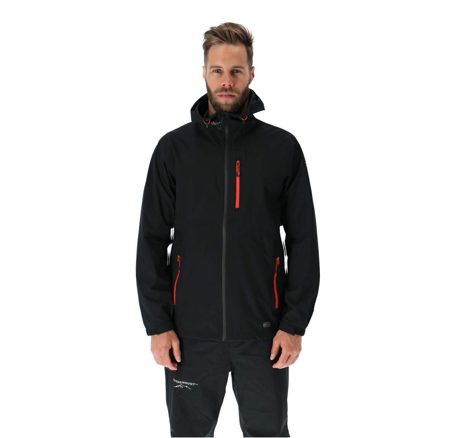 Multi Layer Stretch Rain Jacket, Black, Xl,  Swedemount Jackor