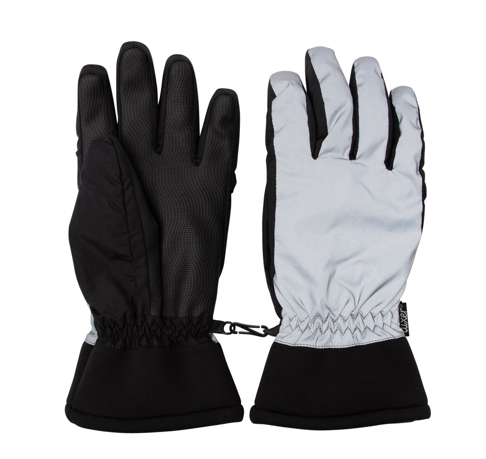 Lenny Lady Gloves, Reflective Silver, 6,  Tuxer